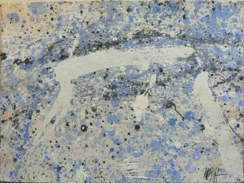 312 - Técnica mixta sobre cartón 76 x 56 cm