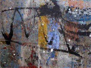 335 - Mixed technique on wood 89 X 116 cm