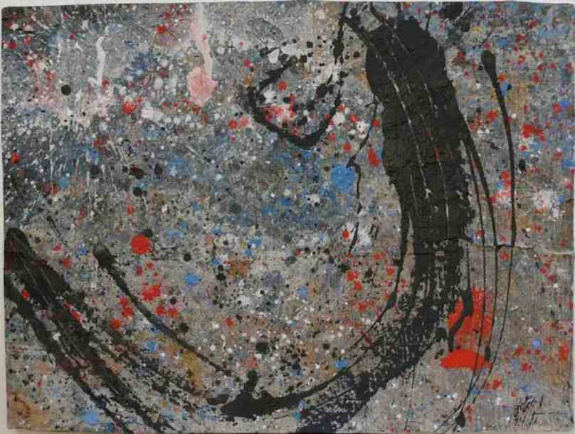 342 - Mixed Technique on Cardboard 57 x 76 cm