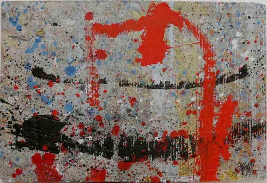 343 - Técnica mixta sobre cartón 70 x 47 cm
