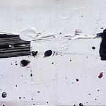 379 - Technique mélangée sur carton 20 X 200 cm