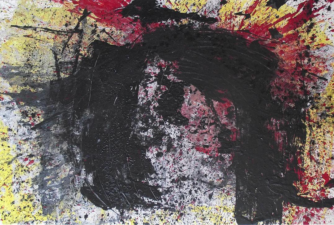 432 - Technique mélangée sur toile 130 X 195 cm