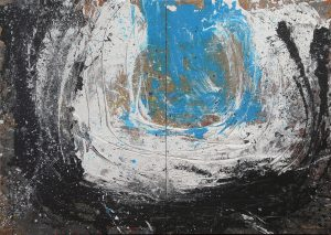 456 - Mixed technique on wood 162 x 229 cm 2016