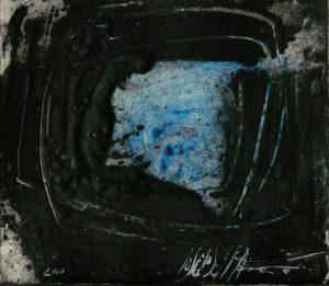 491- technique mélangé sur papier 19 x 22 cm 2017